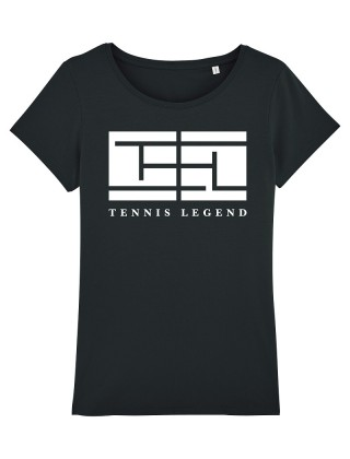 T-Shirt Noir Tennis Legend...