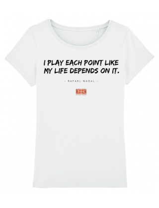 T-Shirt Citation Rafa Nadal...