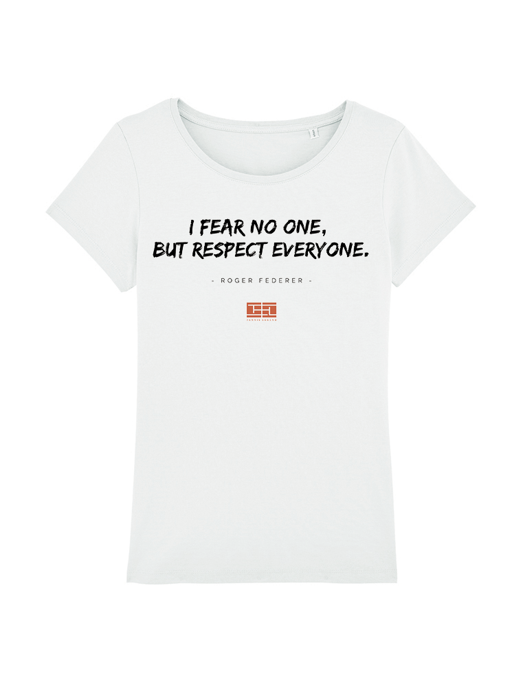 Citation Tennis Shirt Femme Tee Respect Federerquote Motivation IYfvgy6b7