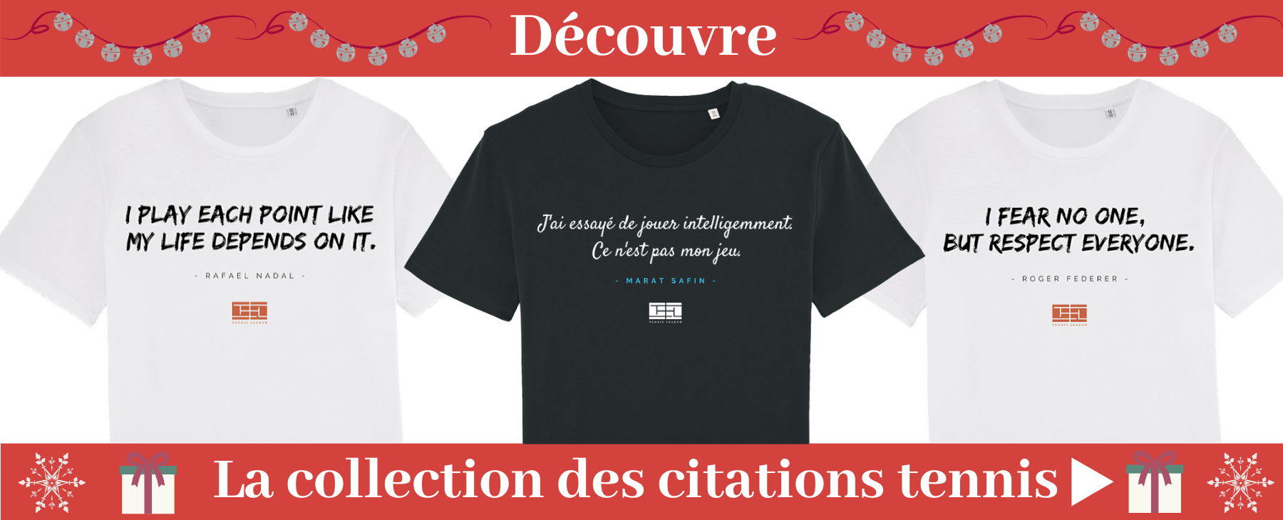 Les t-shirts des citations du tennis