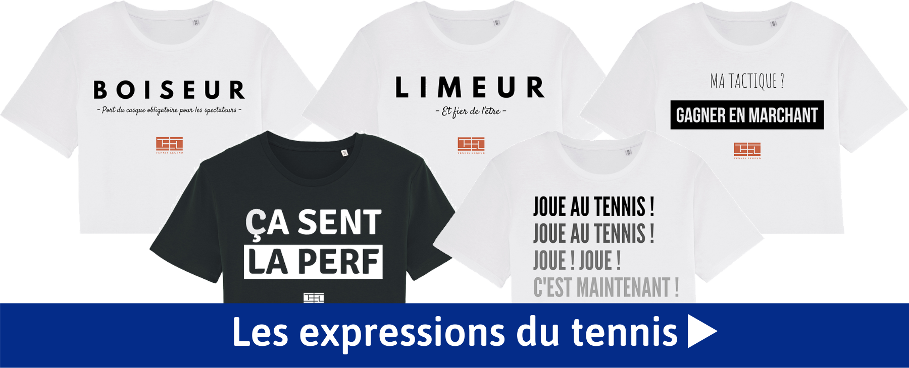 Les t-shirts Tennis Legend